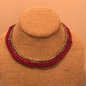 Braid collar necklace